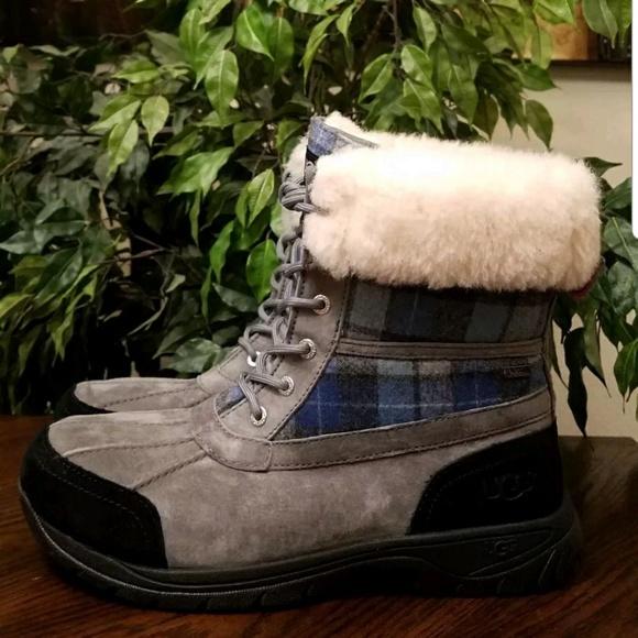 4ea1a9c2108 UGG Butte Surf Plaid Waterproof Vibram Boots
